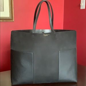 Tory Burch Leather and Suede Tote